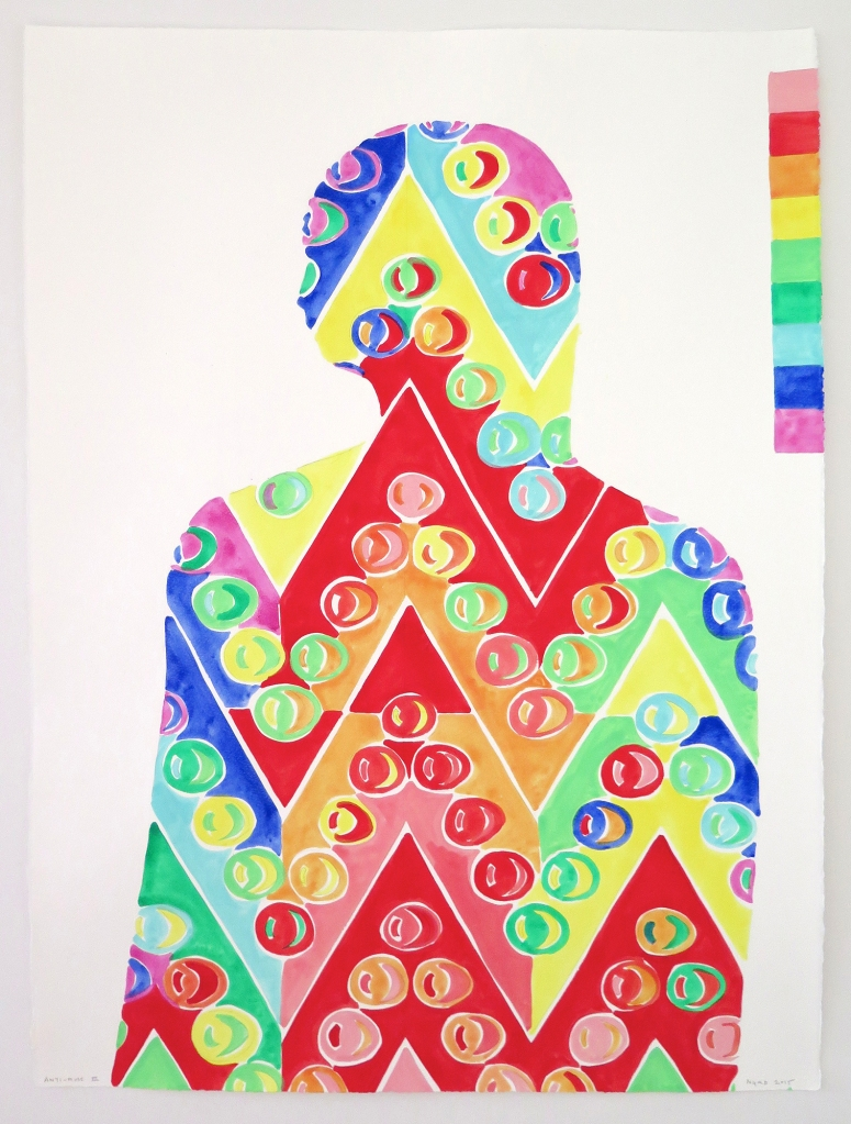 Navine G. Khan-Dossos Anti-Muse III, gouache on paper, 56cm x 76cm, 2015.